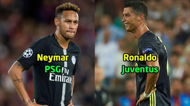 Đội hình tệ nhất lượt đầu tiên vòng bảng Champions League: Neymar, Ronaldo tranh nhau góp mặt!