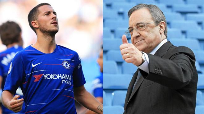 """Hazard thăng hoa tột đỉnh: Real mê mẩn, bố già Perez quyết phá kỷ lục kích nổ """"Siêu bom tấn"""""""