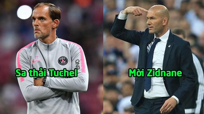 """PSG đại loạn: Lộ bằng chứng sa thải Tuchel, mời Vua Zidane về """"trị"""" Neymar?"""