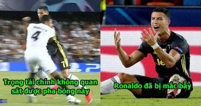 """Trọng tài xuất sắc nhất thế giới bênh vực Ronaldo: """"Đó là một thẻ  đỏ oan nghiệt, cầu thủ Valencia đã chơi xấu cậu ấy trước"""""""