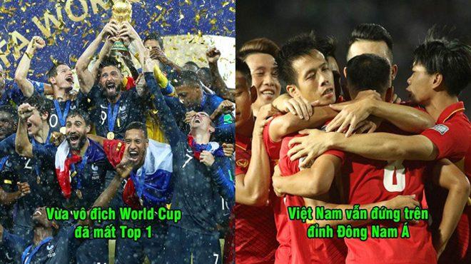 Công bố BXH FIFA tháng 9/2018: Nhà ĐKVĐ thế giới bị phế truất, Việt Nam tiếp tục trên đỉnh Đông Nam Á