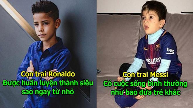 """Sinh ra đã """"Ngậm thìa vàng"""" nhưng cuộc sống của 2 quý t.ử nhà Messi và Ronaldo lại khác nhau 1 trời 1 vực như này đây!"""