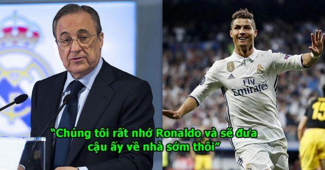 XÁC NHẬN: Chủ tịch Perez tuyên bố sẽ đưa Ronaldo trở lại trong tương lai bằng mọi giá, fan Real khắp TG lại vui rồi