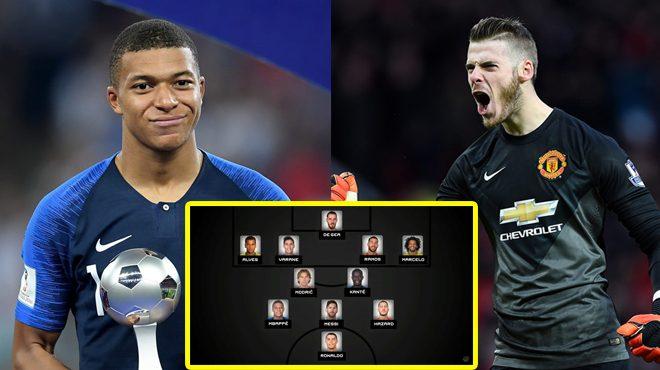 FIFA CHÍNH THỨC công bố Đội hình tiêu biểu thế giới 2018: De Gea và Mbappe lần đầu góp mặt, thiếu vắng 1 cái tên quen thuộc