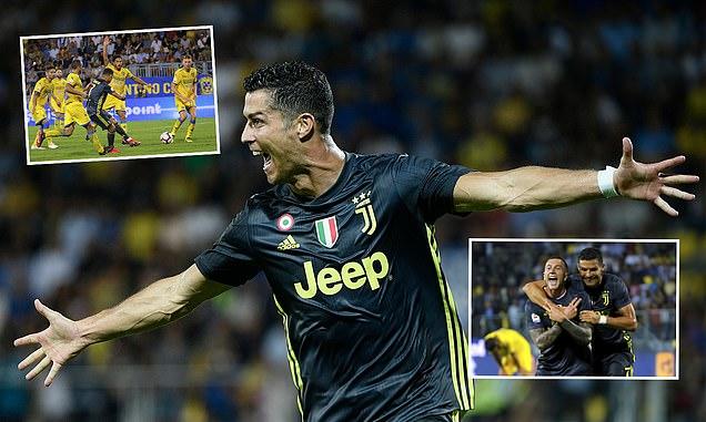 """Ronaldo sắm vai """"vị cứu tinh"""", Juventus nhọc nhằn xô đổ chiếc xe Bus mang tên Frosinone, độc chiếm ngôi đầu bảng"""
