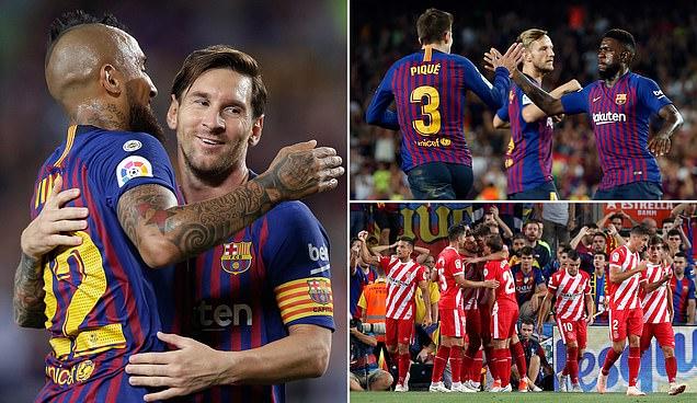 Kết quả Barcelona vs Girona: Rượt đuổi kịch tính, thẻ đỏ khó tin