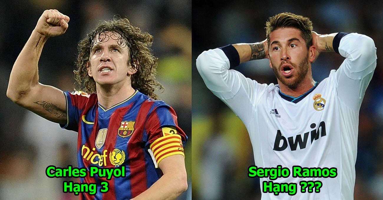 Top 9 trung vệ hay nhất thế giới trong 30 năm qua: Gánh Real còng lưng, Ramos vẫn phải hít khói Puyol!