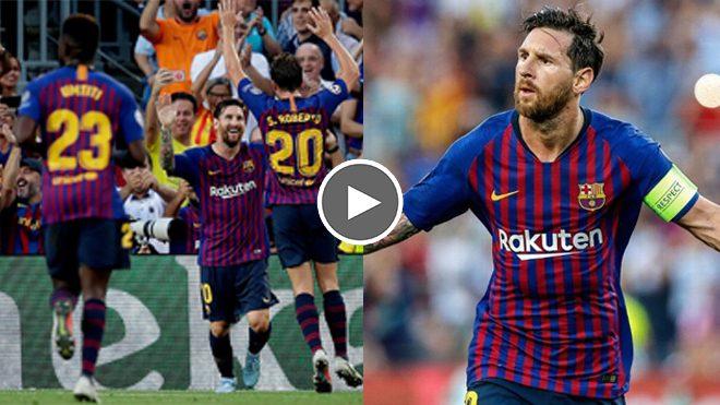 Với hat-trick ghi được vào lưới PSV, Messi viết lên kỷ lục siêu đẳng cấp ở Champions League