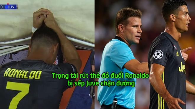 Quá bất bình, sếp Juventus xuống tận đường hầm tìm gặp trọng tài đuổi Ronaldo đòi công bằng