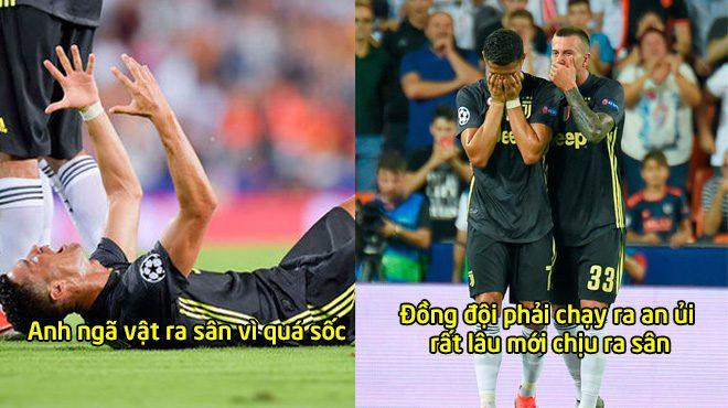 CHÙM ẢNH: Ronaldo bật khóc như 1 em bé vì bị đuổi khỏi sân trước cả thiên hạ khiến ai cũng xúc động
