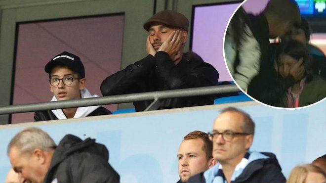 Chứng kiến Man City thua khó tin, HLV Guardiola ôm con gái khóc như mưa trên khán đài khiến ai cũng xúc động
