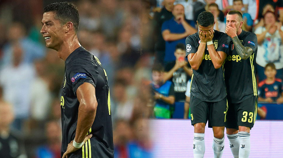 Tội đồ Ronaldo lĩnh thẻ đỏ đáng quên, bị báo chí Italia chê mít ướt như trẻ con