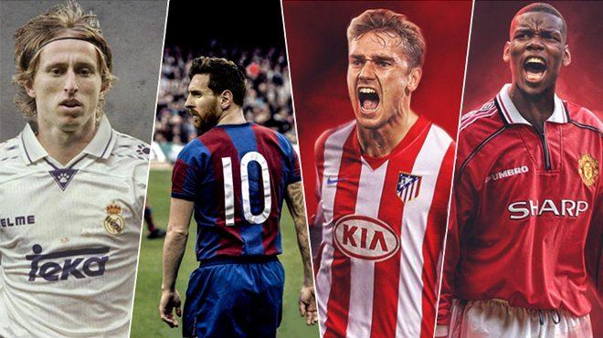 CHÙM ẢNH: Messi, Ronaldo cực chất trong màu áo kinh điển của CLB, ngầu hơn trang phục hiện tại cả trăm lần