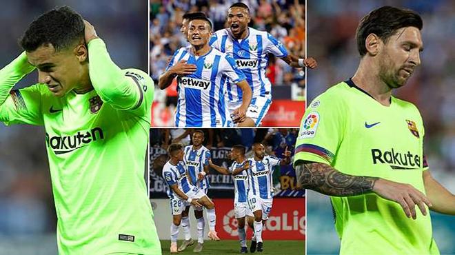 """""""Thánh gánh team"""" Messi không còn phép màu, Barca bẽ bàng nhận kết quả S.Ố.C trước tí hon Leganes"""