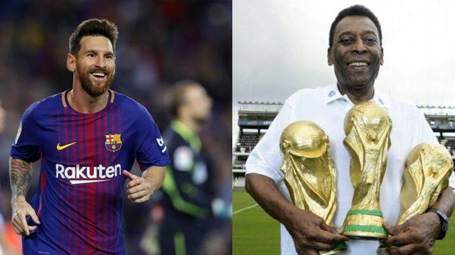 """Không sớm thì muộn, Messi cũng sẽ đuổi kịp """"Vua bóng đá"""" Pele, chứng minh anh là số 1 hành tinh!"""