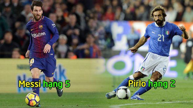 Top 7 thiên tài có lối chơi thông minh và hiệu quả nhất thế giới: Pirlo, Messi vẫn phải cúi đầu trước người này