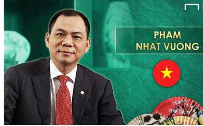 Goal công bố Top 11 đại gia bóng đá giàu nhất châu Á: Tỷ phú Việt Nam vinh dự góp mặt, sánh ngang ông chủ của Man City