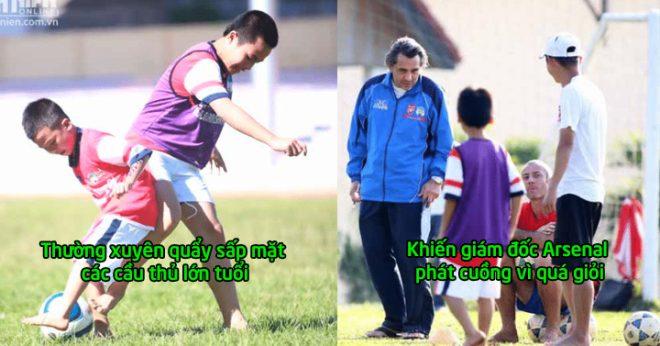 Quá tự hào: Siêu nhân Trần Gia Huy lọt vào mắt xanh của Arsenal, chỉ cần đủ tuổi là sang Anh chơi bóng rồi!