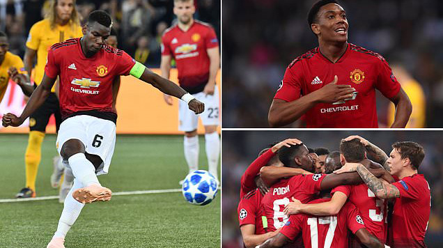 Siêu sao Pogba tỏa sáng rực rỡ, Quỷ đỏ dễ dàng vùi dập Young Boys ngay trên sân khách