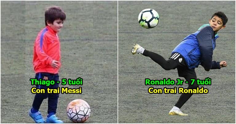 """10 """"nhóc tỳ"""" sở hữu tài năng thiên bẩm hứa hẹn soán ngôi cha mình: Cả thế giới ngóng chờ cặp kì phùng Thiago – Ronaldo jr"""