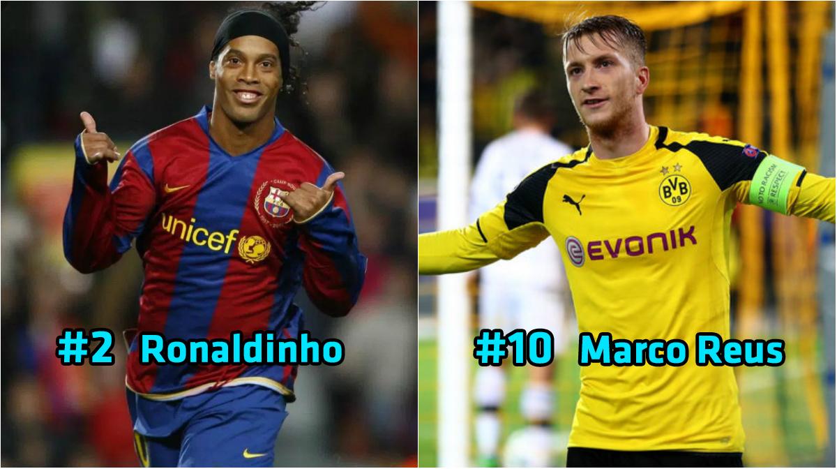 Top 10 cầu thủ được yêu mến nhiều nhất thế giới bóng đá