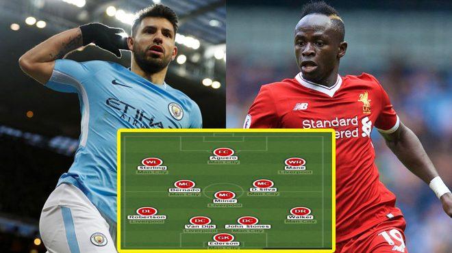 Đội hình siêu k.h.ủ.ng kết hợp giữa Liverpool và Man City: Tam tấu M-A-S lĩnh xướng hàng công