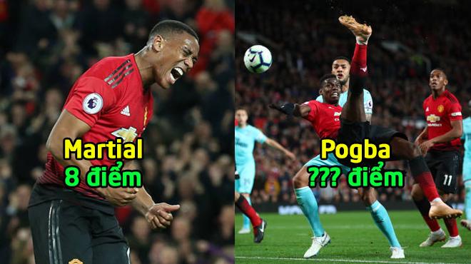 Chấm điểm Man United trận Newcastle: Hãy để Pogba chơi phòng ngự
