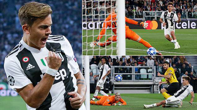 """Không cần đến Ronaldo, """"Messi đệ nhị"""" lập Hat-trick giúp Juventus đè bẹp BSC Young Boys"""