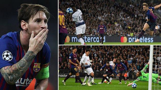 Messi lập cú đúp siêu đẳng giúp Barca giành chiến thắng không tưởng trước Tottenham ngay tại Wembley