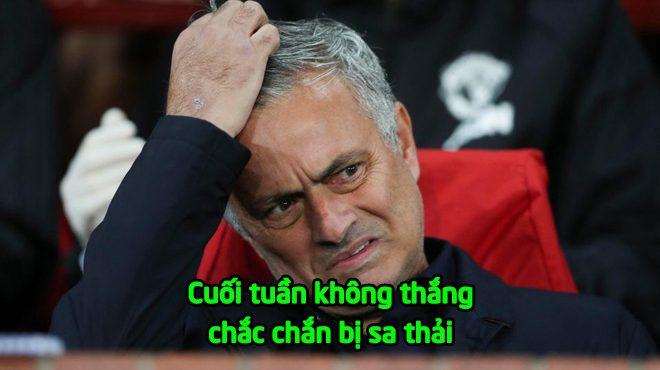 """Hết kiên nhẫn với Mourinho, MU CHÍNH THỨC ra thối hậu thư: """"Cuối tuần này không thắng là bay ghế"""""""