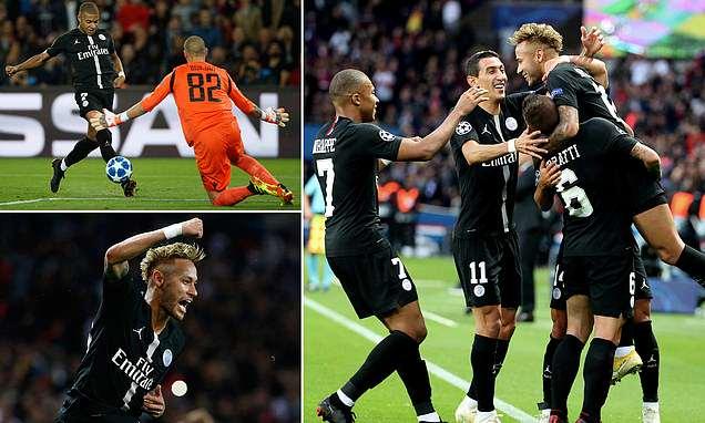 Gạt đi nỗi buồn thua đau Liverpool, Neymar lập hat-trick giúp PSG trút cơn mưa bàn thắng lên nhược tiểu Crvena Zvezda