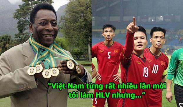 Được Việt Nam tha thiết mời về làm HLV trưởng, Vua bóng đá Pele trả lời thế này khiến không ai nhịn nổi cười